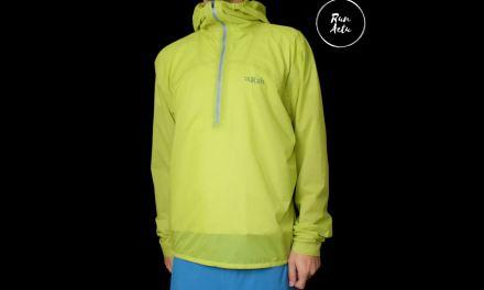 Test veste Phantom Pull-on de chez Rab, une veste imperméable ultra légère pour trail.