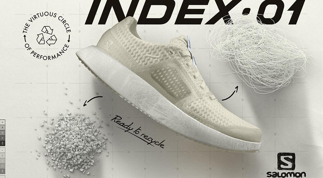 Présentation Salomon Index.01, la première chaussure haute performance entièrement recyclable.