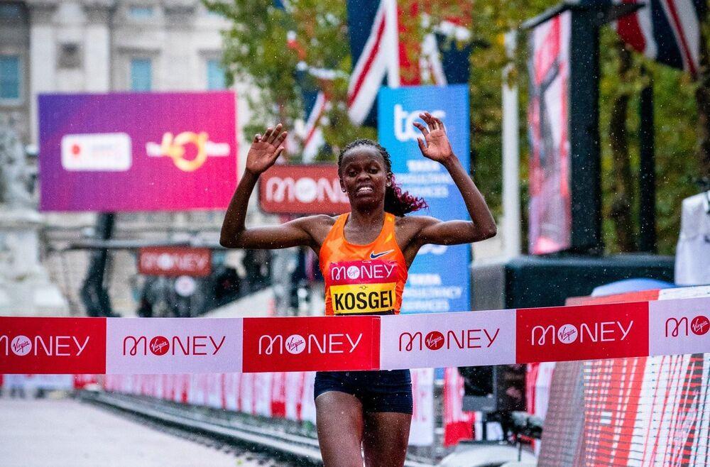 résultats marathon londres 2020 Kosgei