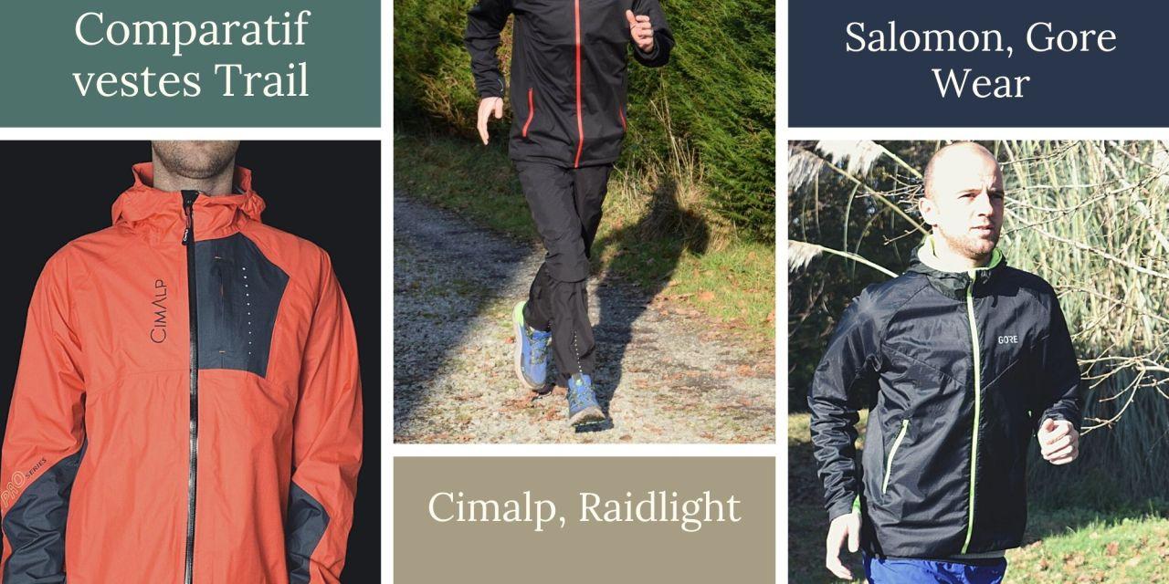 Comparatif vestes imperméables trail et running: tous les tests sur les différentes vestes protégeant de la pluie.