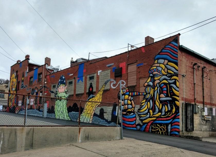 Murals on Allentown Building