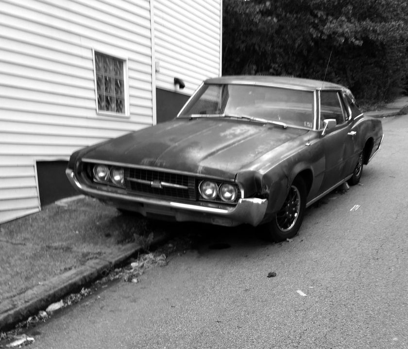 Old Car black and white