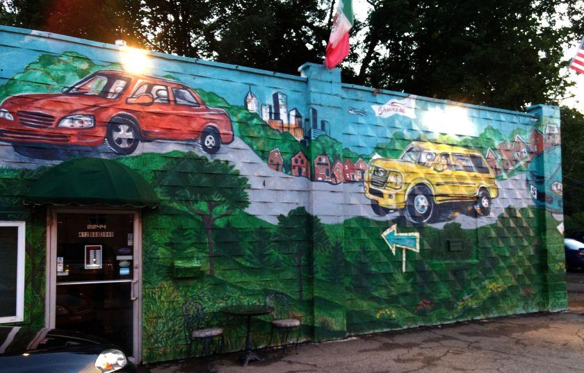Car dealer mural