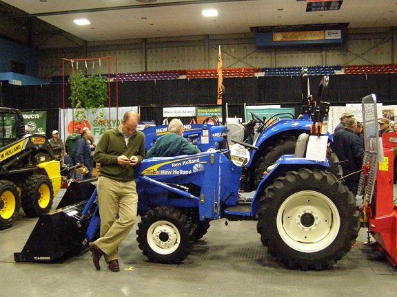 tractors at the agricultural trade show