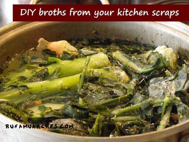 diy broth from kitchen scraps