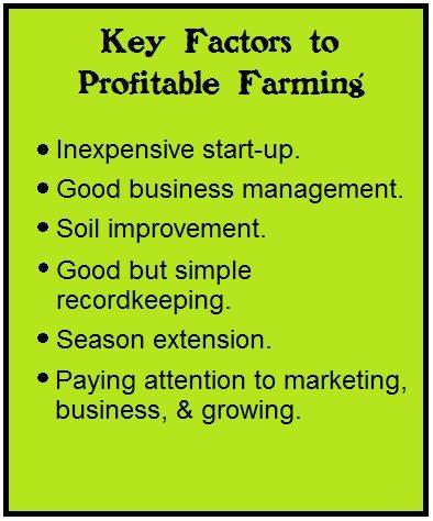 key factors to profitable farming