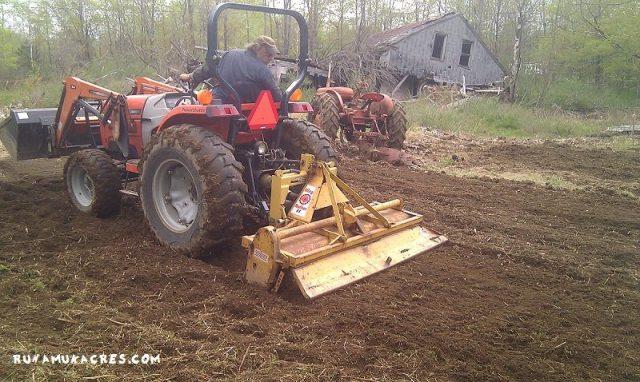 tilling the new garden