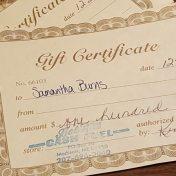 heating fuel gift certificates