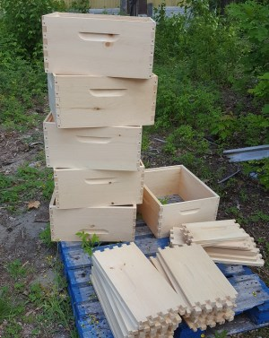 assembling equipment for beehives