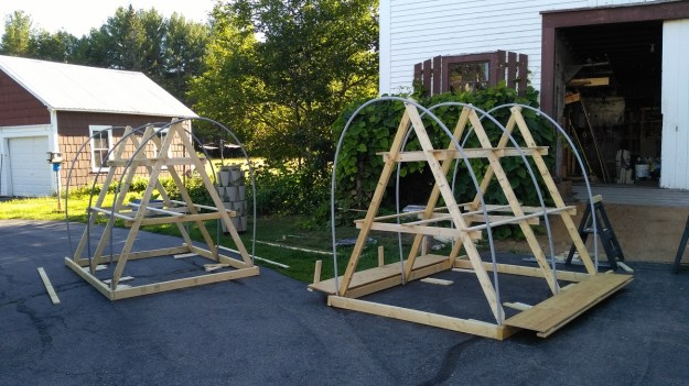 chicken tractor twin construction