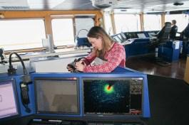 Checking on my equipment on the radar operator station