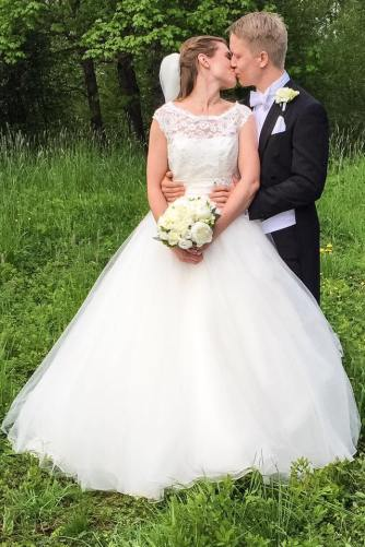 The newlyweds Anna and Jostein