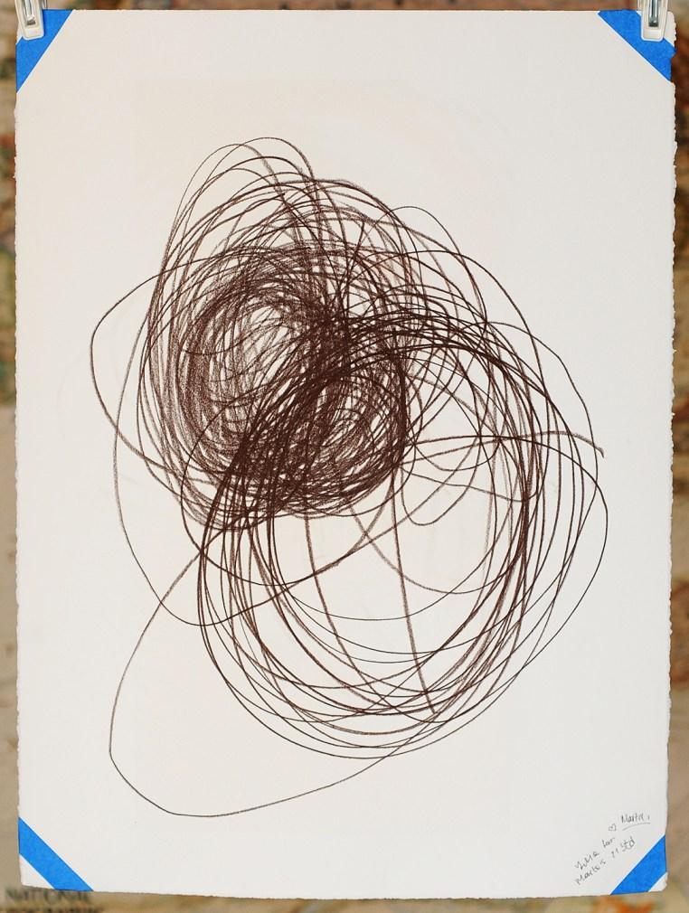 "Spring Break No.3, Conté Crayon on Rives BFK white, 30x22"", Marta Troya & Yulia Grenaderova, 2016"