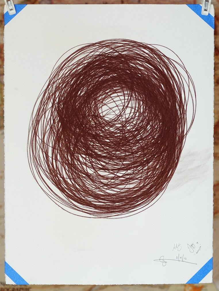 "Spring Break No.4, 30x22"", Conté Crayon on Rives BFK White, Joey Kok, Ada Chua & Glenn Zucman, 2016"
