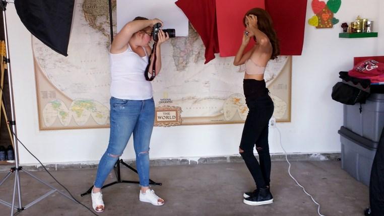 Tamara Williams & Carmen Lee Solomons during a beauty photography shoot