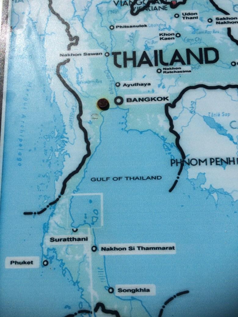 Map of Ko Samui Thailand