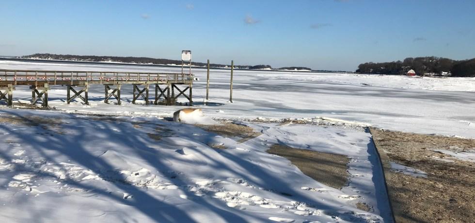 Centerport Harbor in Winter