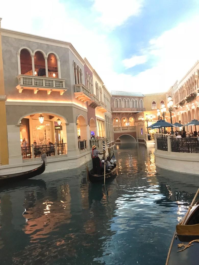 Gondola at the Venetian Las Vegas