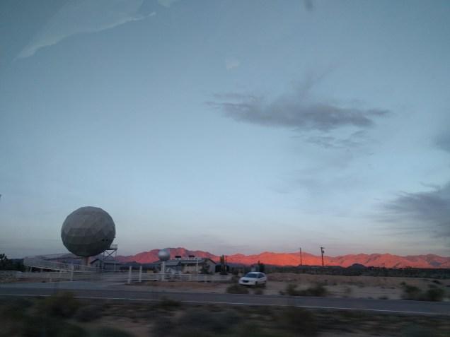 Sunset, headed home somewhere in the Mojave desert.