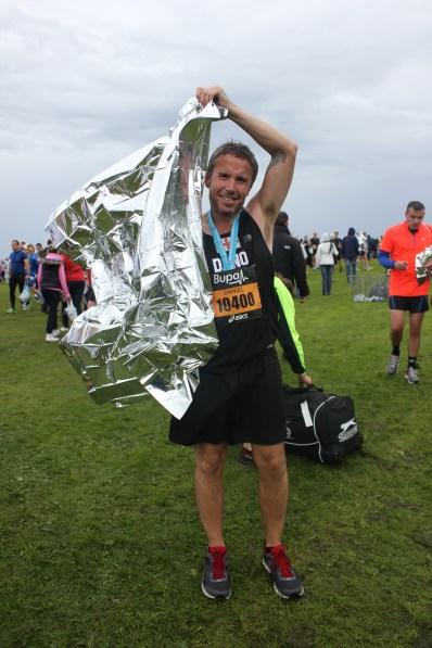 Runner at finish line