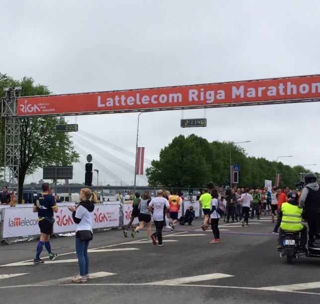 Riga Marathon Winner Finish