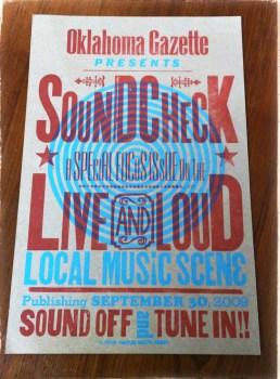 Show poster designad och tryckt av Hatch Show Print.