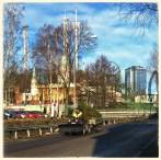 Än är tydligen inte den glada julen riktigt slut inne på Liseberg. Utforslingen av granar pågår fortfarande.