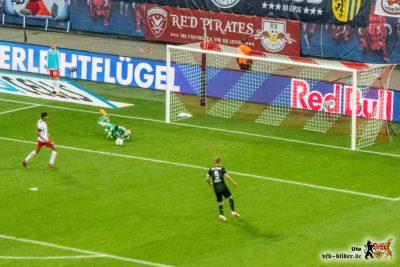 Kennen wir: Tor leer, Ball weg, Terodde ohne Chance. Bild: © VfB-Bilder.de