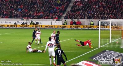 Auch Berlin hatte zeitweise zu viel Platz im VfB-Strafraum.