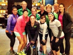 Pre-morning run on Saturday before the race with my Austin friends