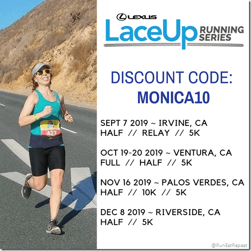 Lace Up Race Discount Code Irvine Ventura Palos Riverside Half Marathon 10K 5K run - Copy