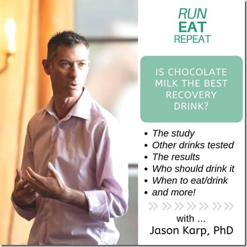 Running Coach Jason Karp on Chocolate Milk recovery drink for runners and athletes