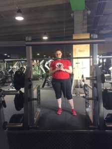 At the gym again!