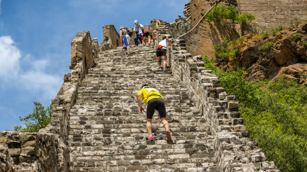 great wall of china marathon 5 176 steps great wall on great wall id=82895