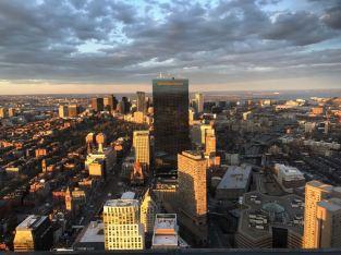 ons uitzicht over Boston bij het diner naderhand