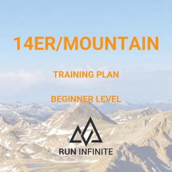 Trail running training plan 14er/mountain