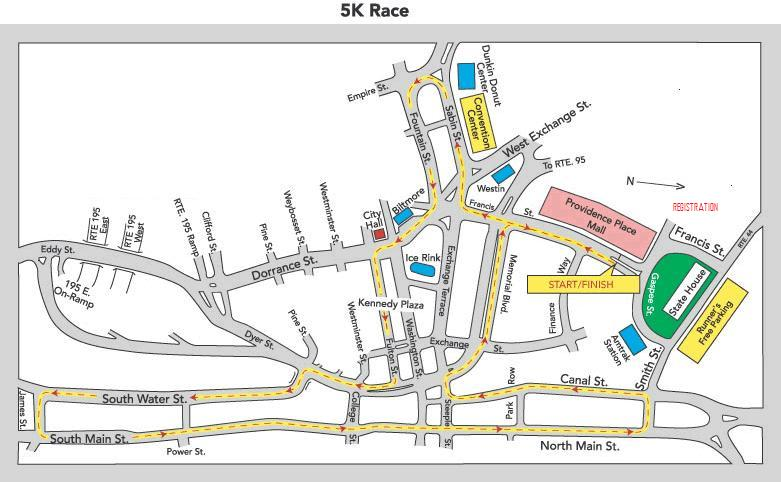cvs caremark downtown 5k 2017  2018 date  registration  course route