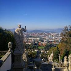 The view to Braga below from the top of the stairs at Bom Jesus. Photo credit: Nadine Marie Janetta