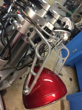 support de phare moto custom
