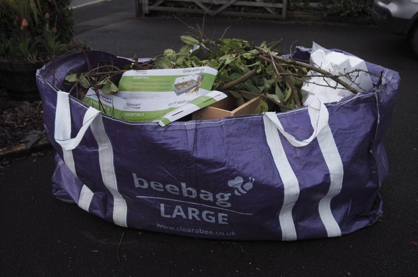 clearabee filled bag