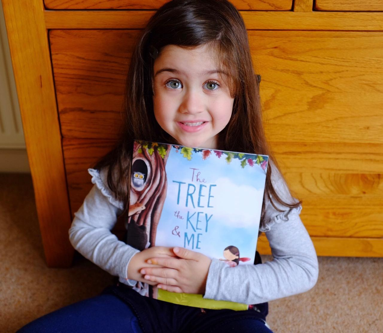 girl with her book
