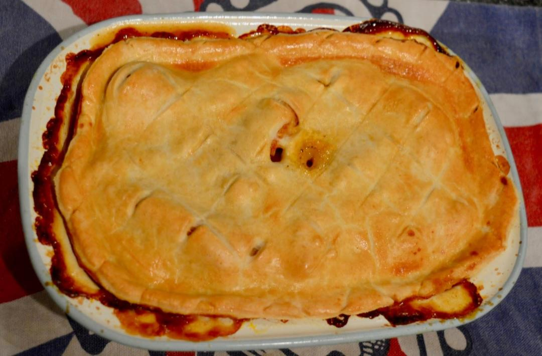 Christmas leftover pie