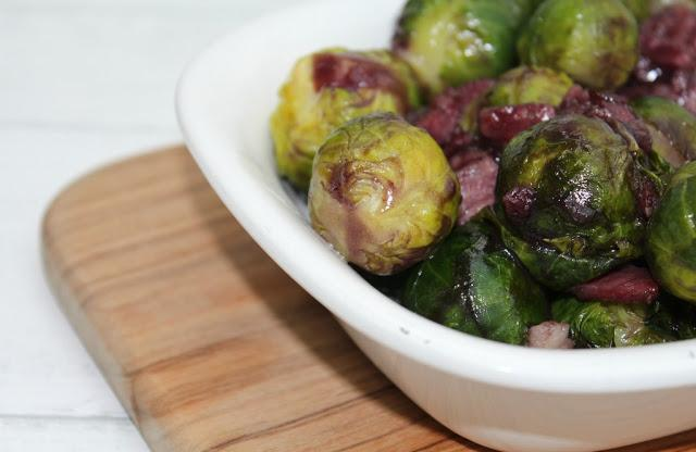 pancetta and red wine brussel sprouts