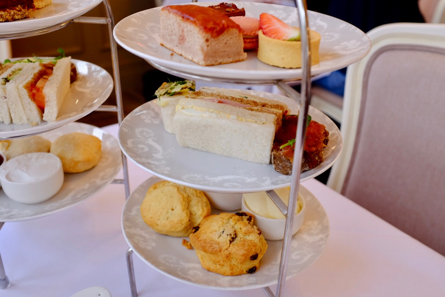 non-vegan afternoon tea at Laura Ashley