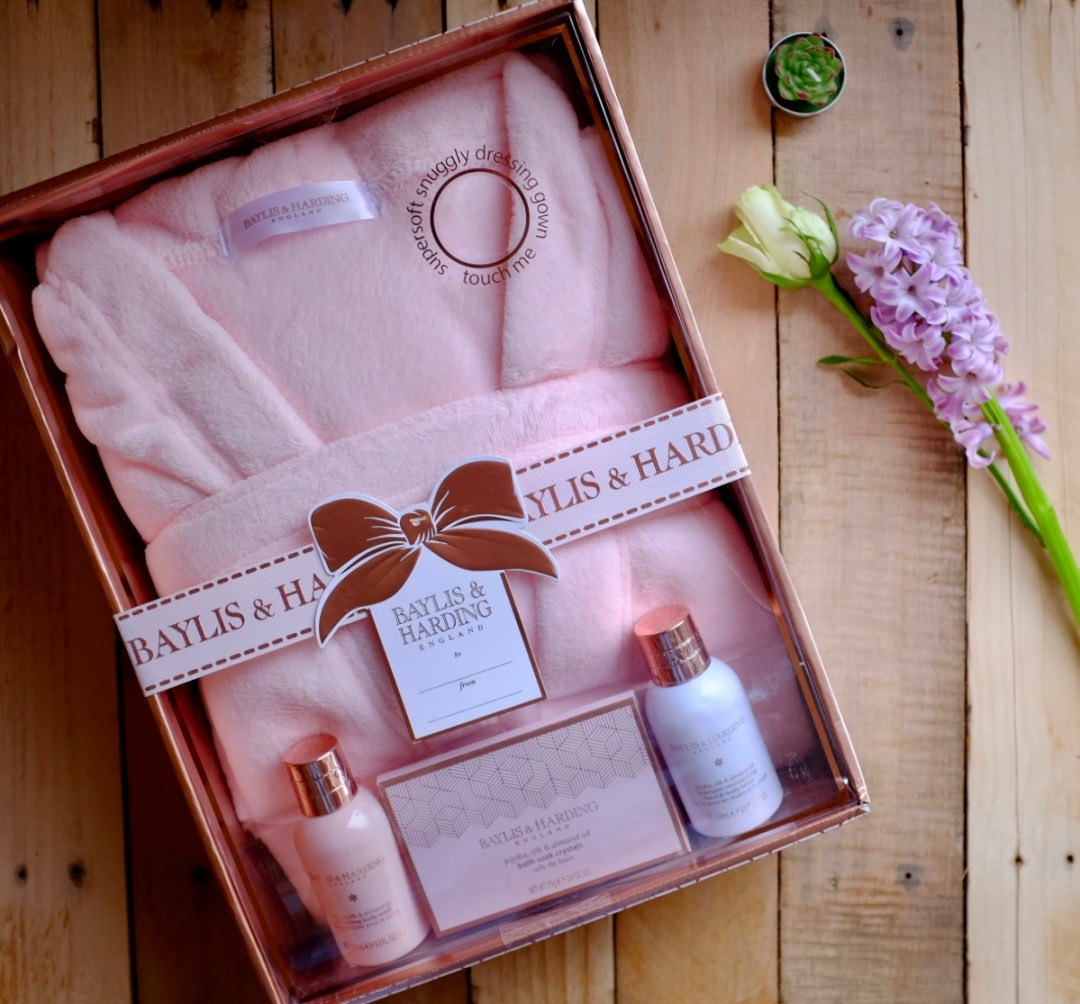 Bath and robe set from Baylis and Harding