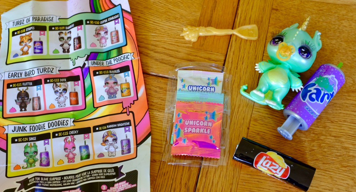 Contents of Poopsie Slime Surprise Sparkly Critters