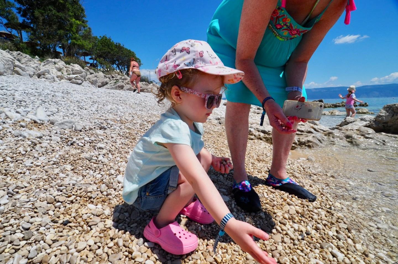 The beach in Rabac Croatia