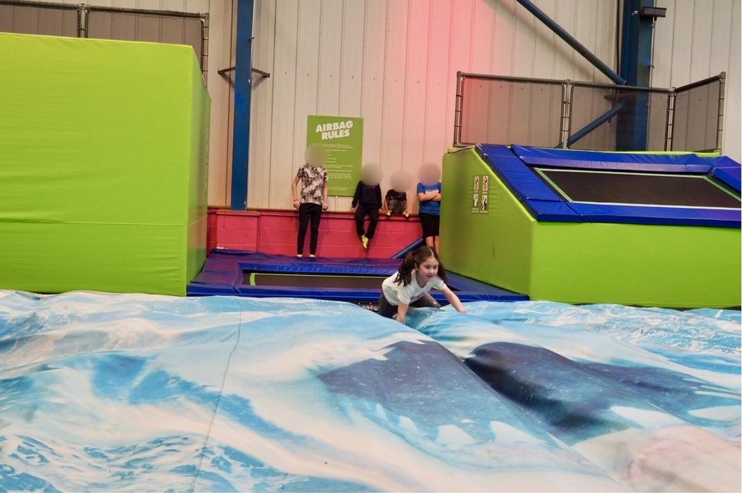 giant air bag jump in Warwick
