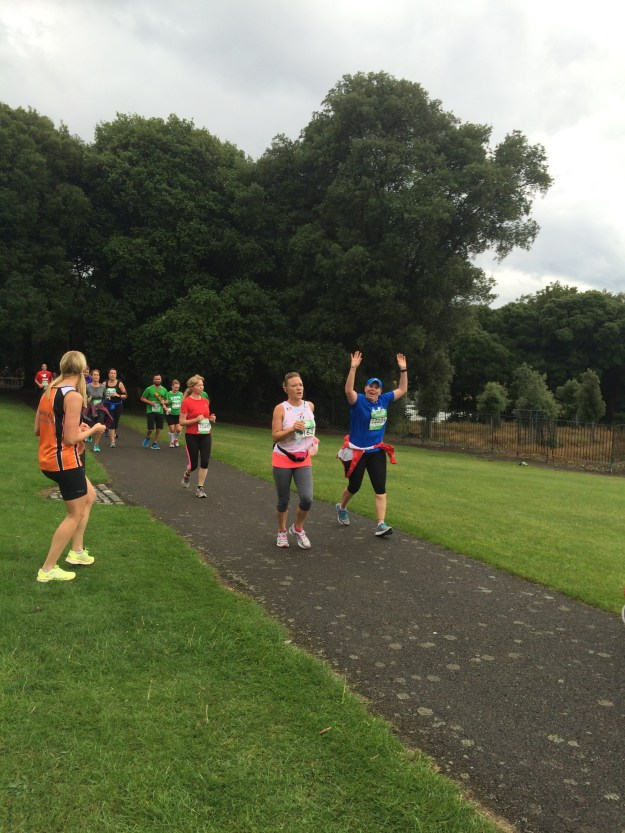 Catching a few other runners in Phoenix Park