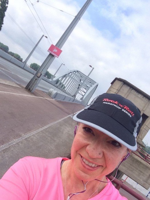 running on the John Frost bridge